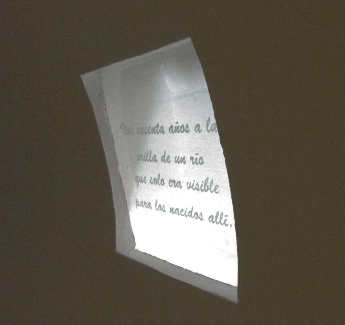 Invisible Poems. Installation